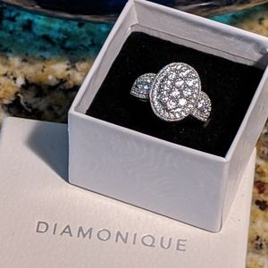 Diamonique Vintage Wedding Ring
